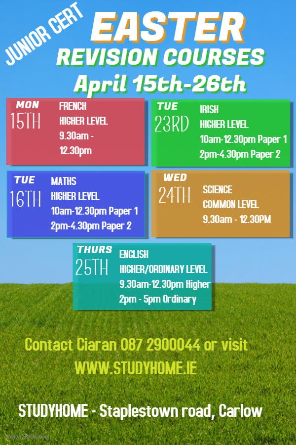 Junior Cert Revision Courses