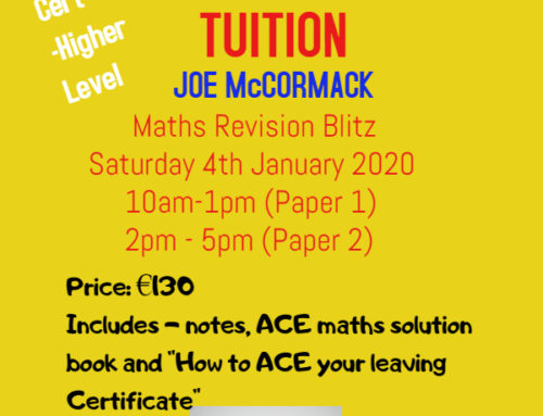 Leaving Cert Maths – January 2020 Blitz day