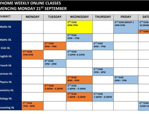 Study Home Weekly Online Classes